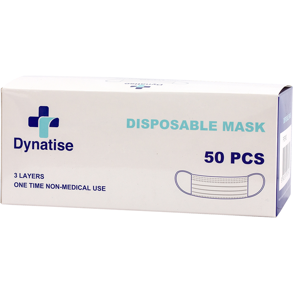 cardboard package for fifty pieces of dynatise face masks
