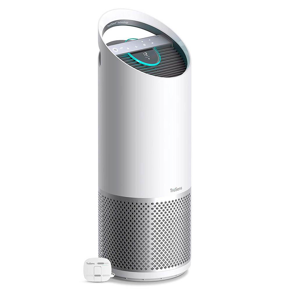 an air purifier with an air quality monitoring sensor