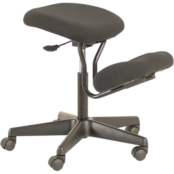 a adjustable black chair with no back and with a cushion for your knees