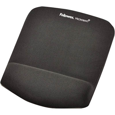 mouse pad with plush touch wrist rest and microban protection