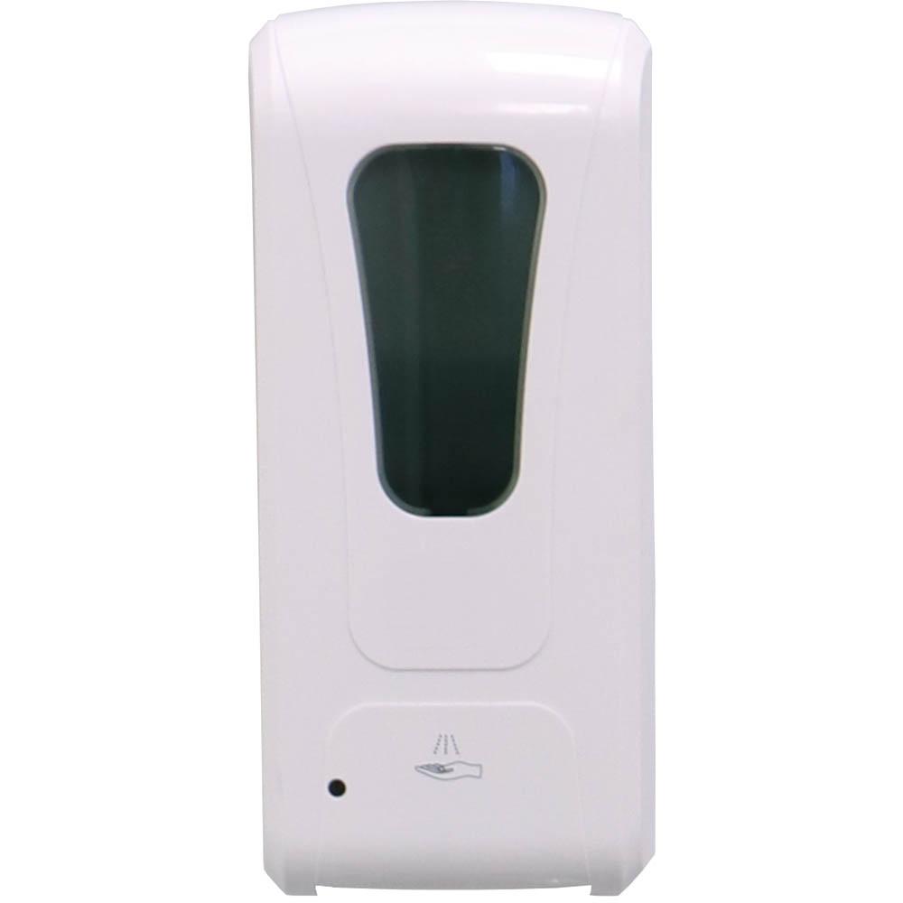 white motion sensing sanitiser dispenser