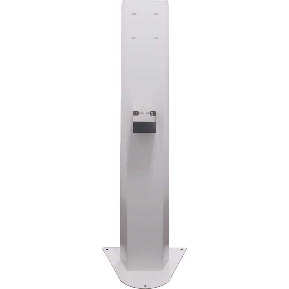 white metal stand on which you can mount a sanitiser dispenser