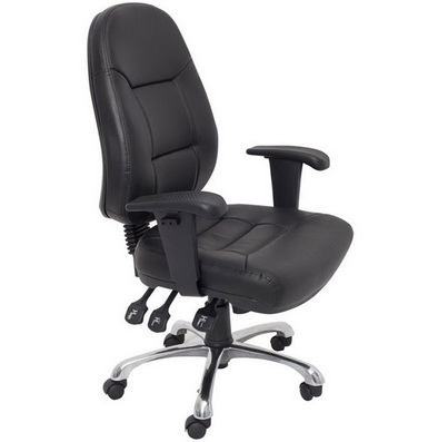 a deluxe looking black high back executives chair