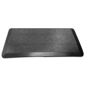 black rectangular mat to work with sit-stand desks