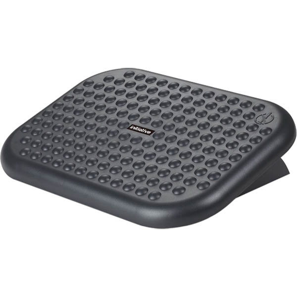 black footrest with adjustable angle and non-slip surface