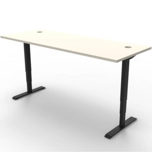 white table with adjustable height