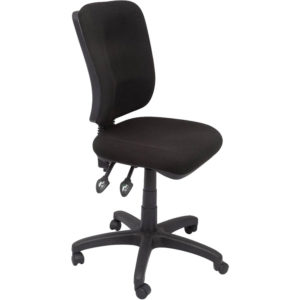 black ergonomic chair with 3 levers