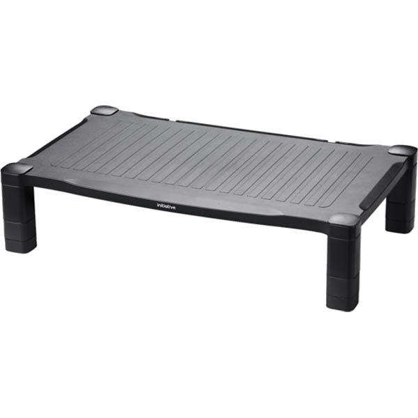 Black extra wide monitor stand