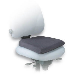 Black Seat rest for office chairs made of memory foam