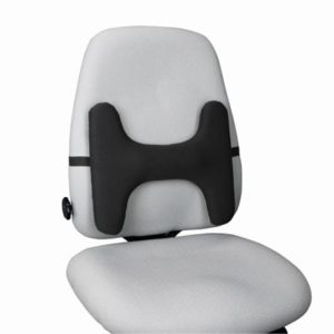 Black memory foam to be attached to your chairs back rest for lumbar support